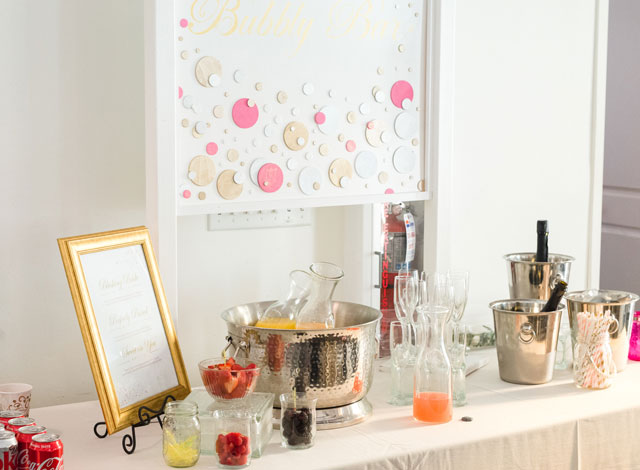 Mimosa bar in the Bridal Tower at The Transept