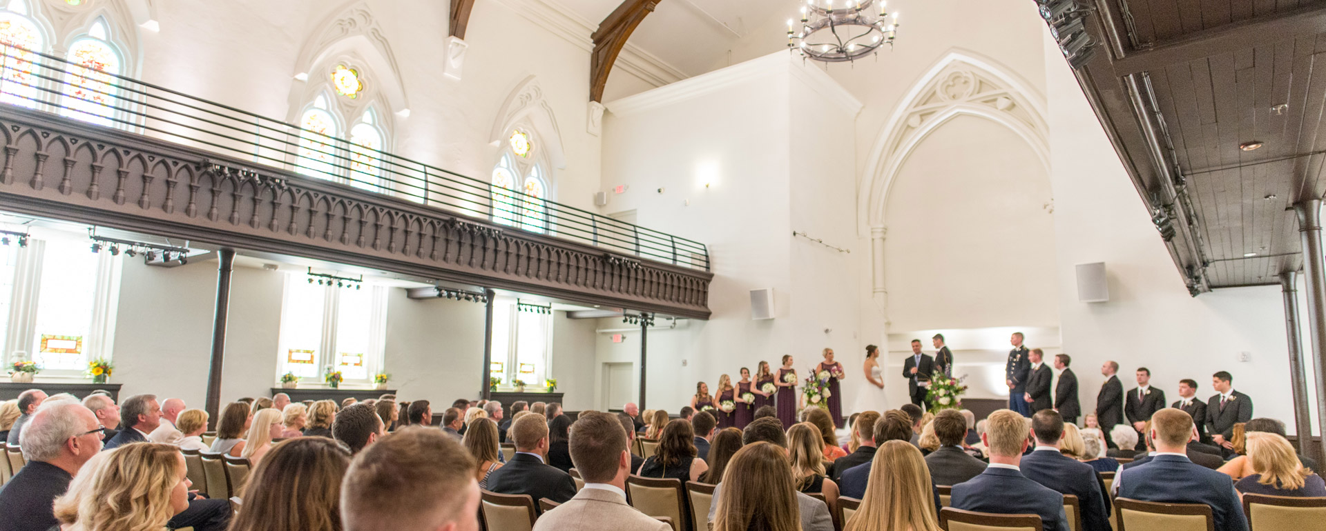 wedding ceremony in The Assembly at The Transept
